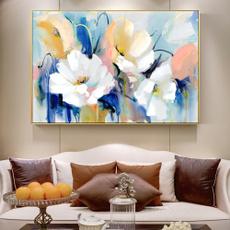canvas paintig, Flowers, art, canvaspainting