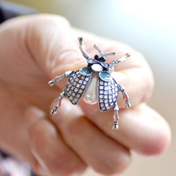insectpin, beetlebrooch, brooches, Jewelry