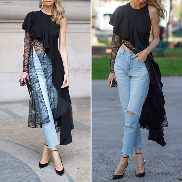 blouse, Plus Size, clubwear, Sleeve
