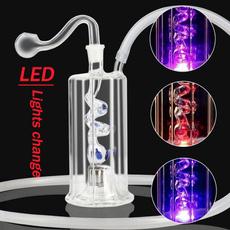 glasswaterpipe, led, tobacco, glassoilburnerpipe
