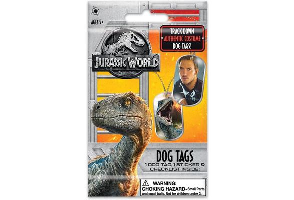 Jurassic World Fallen Kingdom DOG TAG //STICKER U-Pick-1 Bulls i Toys