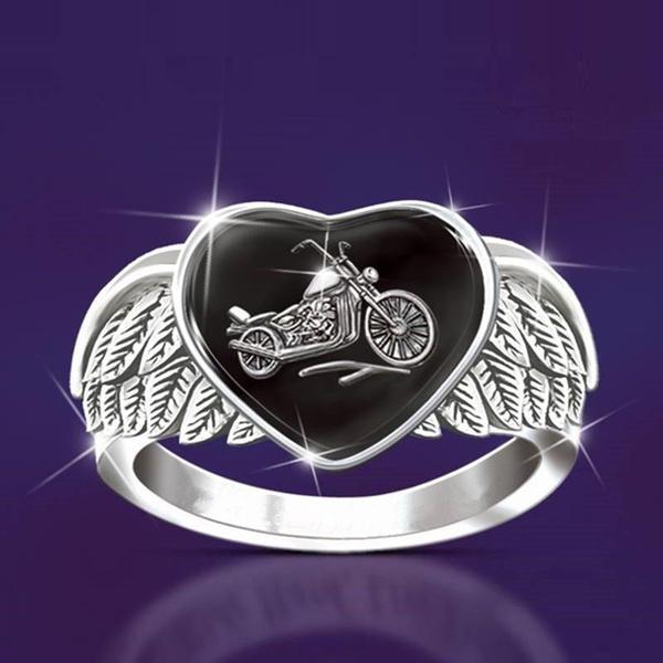 Fashion, Jewelry, Angel, Silver Ring