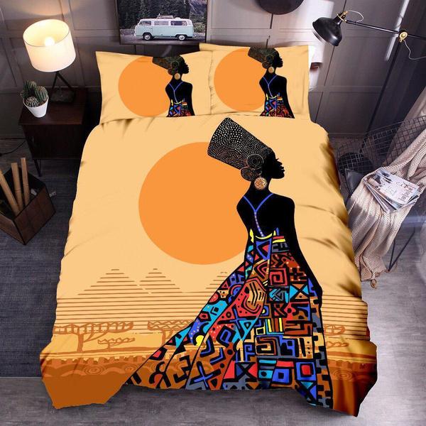 theme, africanwomen, Home & Living, Bedding