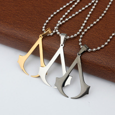 Steel, Chain Necklace, Stainless Steel, Cosplay