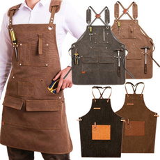 apron, bartender, leather strap, leather