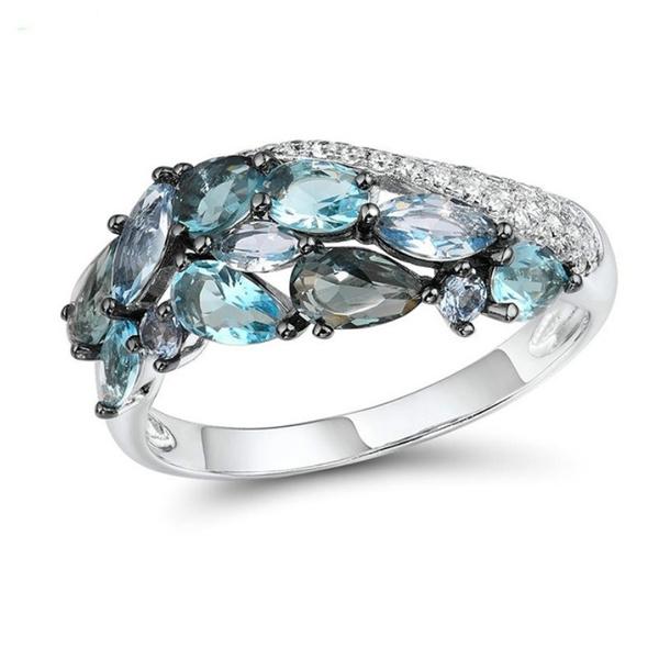 Blues, Sterling, wedding ring, Luxury