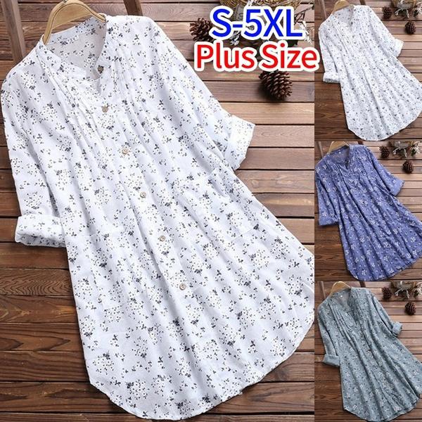 blouse, longsleevelongsleeved, Floral print, Sleeve