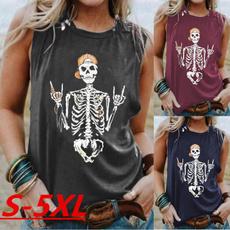 Goth, Plus Size, Tank, skull