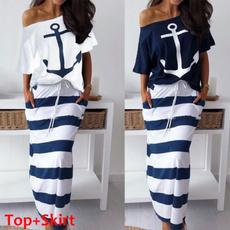 Plus Size, long skirt, Two-Piece Suits, 2 piece dress sets