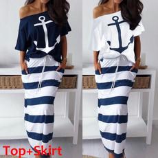 long skirt, Two-Piece Suits, 2 piece dress sets, long dress