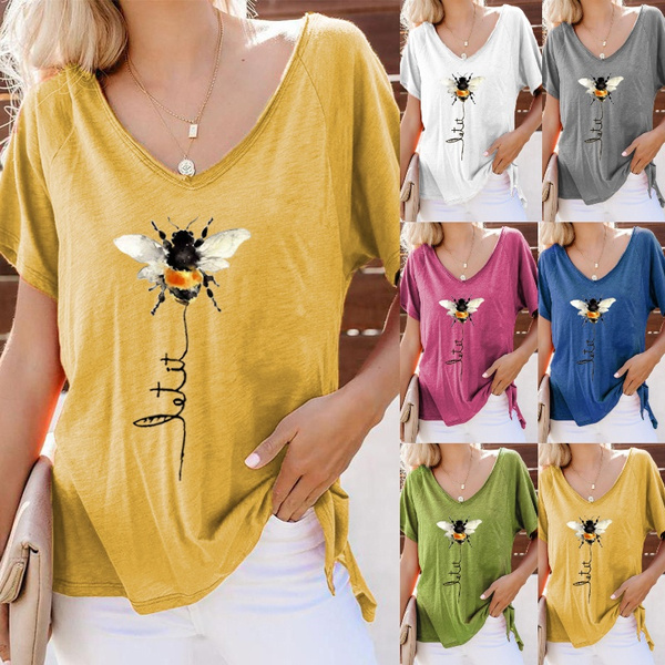 Summer, Funny T Shirt, letter print, short sleeves