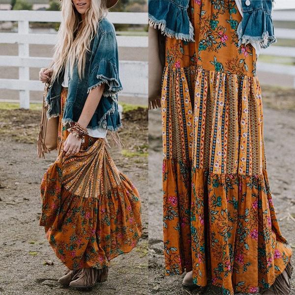 long skirt, Plus Size, Dress, gonna
