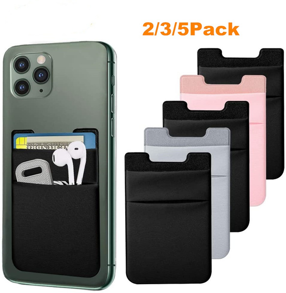 Suitable for Most Smartphones ID Black, White, Gray Frienda 9 Pieces Phone Card Holder Mix Color Self-Adhesive Back Sticker Cell Phone Wallet Pocket for Credit Card Business Card