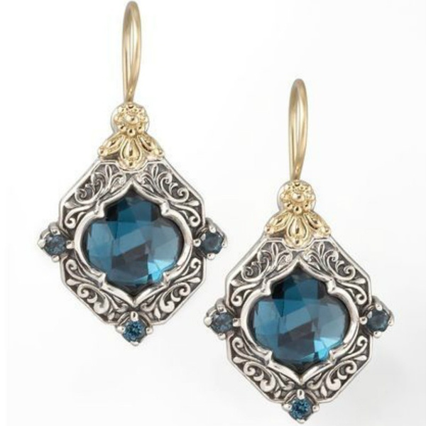 Blues, 925 sterling silver, gold, Blue Sapphire