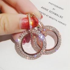 pendantearring, DIAMOND, Jewelry, gold