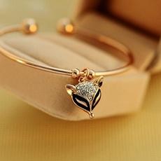 Charm Bracelet, cute, Jewelry, gold