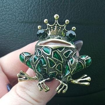 frogpin, Vintage, frogbrooch, Coat