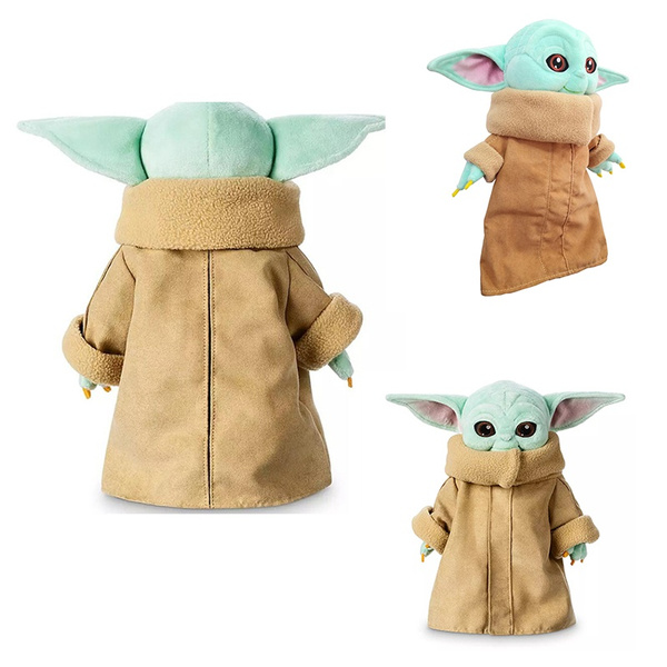 Baby Yoda Plush Toy The Mandalorian Baby Yoda Figure Stuffed Plush Doll Replica Collection Wish