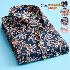 Plus Size, printed shirts, slim, short sleeves