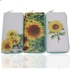 sunflowerwallet, women purse, Sunflowers, clutch bag