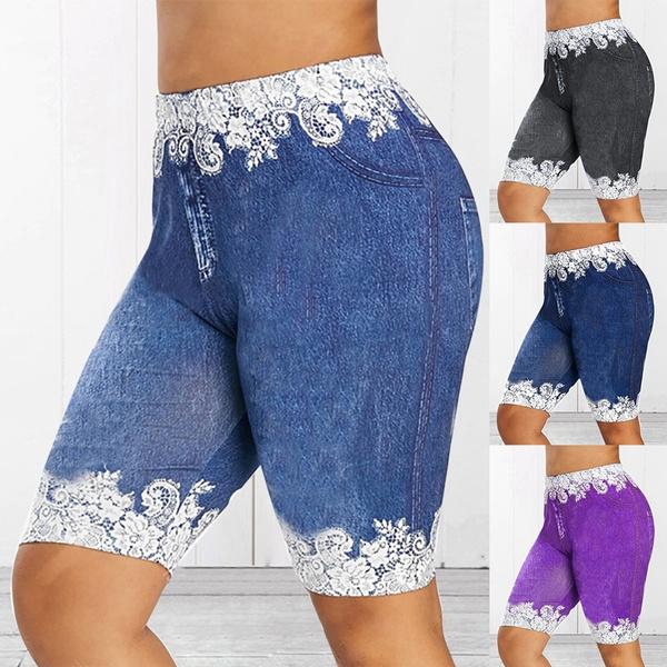 Summer, Plus Size, elasticsport, pants