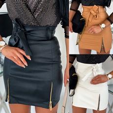 Lace Up, Fashion Skirts, Lace, leather