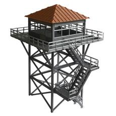 brown, hoscaleguardtower, trainrailwaymodelscenedecoration, Grey