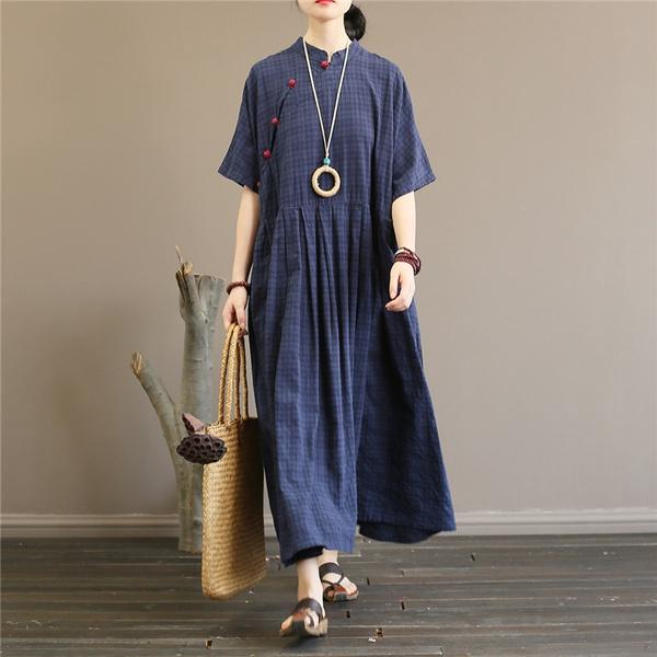 Elegent, Summer, diagonaldres, pleated dress
