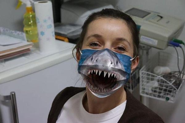 Shark, Masks, idididcustomlabel03dmask, namenamenamelotusapparel