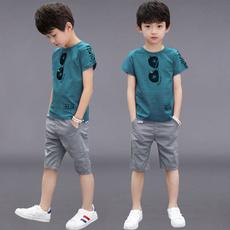 Summer, Two-Piece Suits, For Boys, Moda niños