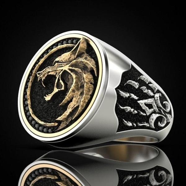 men_rings, Goth, Wizard, Jewelry