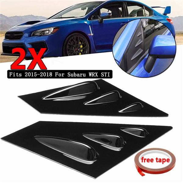 Color : A RKRCXH Car Accessories 2pcs Front Window Louver Side Vent Fit for Subaru WRX STI 2015-2018 ABS Plastic Stickers Side Window Louvers Scoop Cover Vent