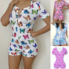 bodycon jumpsuits, butterfly, Plus Size, Sleeve