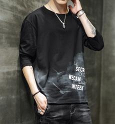 Plus Size, Necks, Spring, Long sleeved