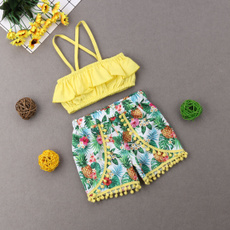 Shorts, crop top, babygirloutfit, kidgirloutfit