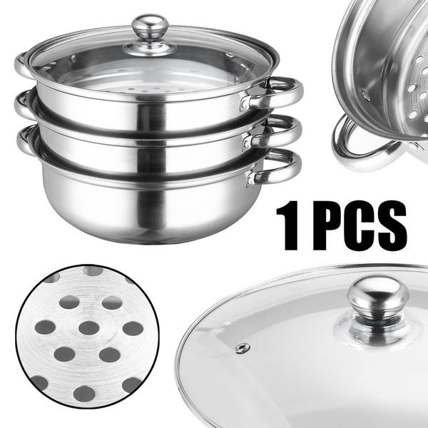 Set, Food, Glass, Pot