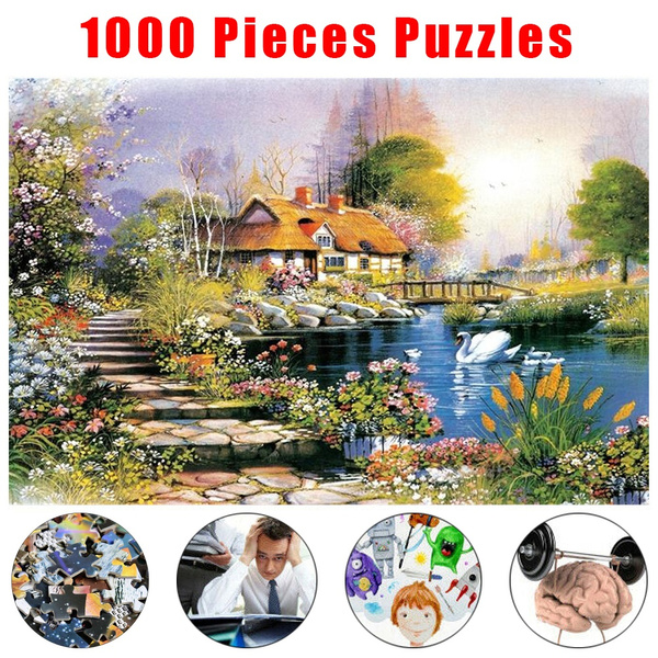 1000 Pieces Jigsaw Puzzles Educational Toy Landscape Scenery Puzzle Toys