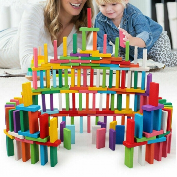 montessori, Toy, Family, kidsdominosblocktoy