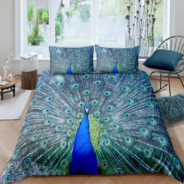 peacock, Nature, bettbezug, kidsgift