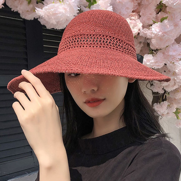 bowknot, Woman, Beach hat, Summer
