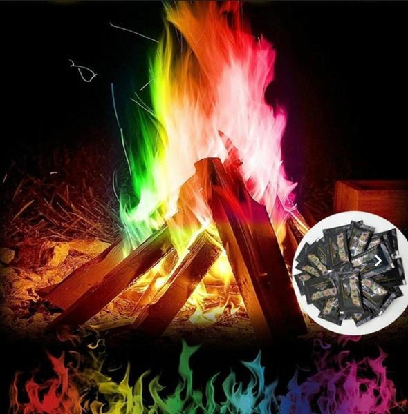 rainbow, Outdoor, bonfire, Carnival