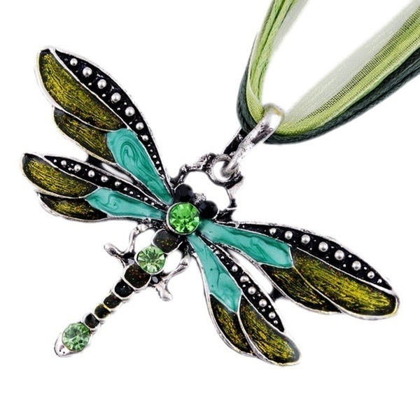 dragon fly, Jewelry, Crystal, Necklaces For Women