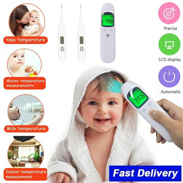 Baby, fever, temperaturemeasurement, earthermometer