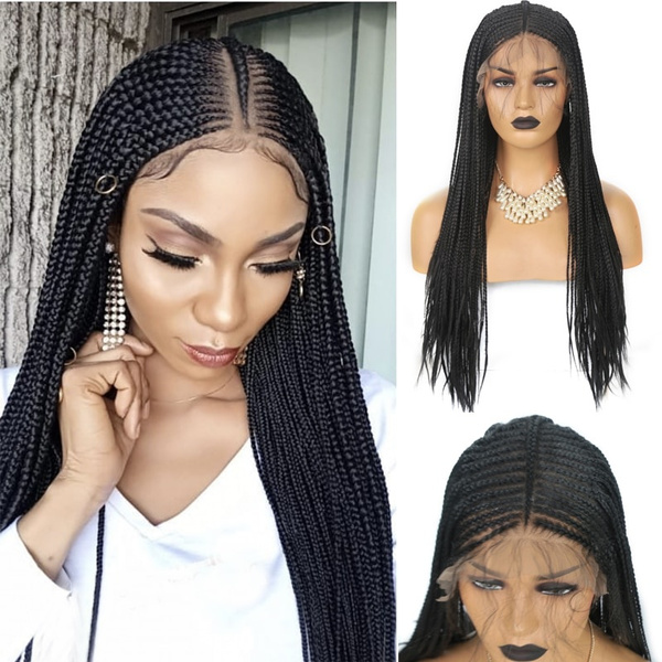 Black wig, Synthetic Lace Front Wigs, braidwig, wigsforwomen