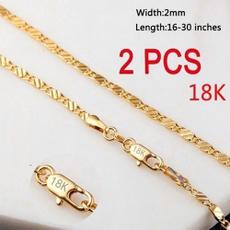 luxuryweddingnecklace, Chain Necklace, gold, Chain