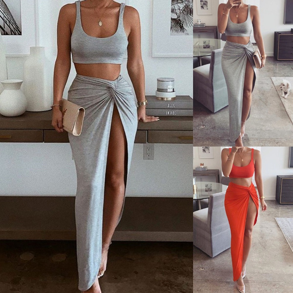 Two-Piece Suits, crop top, Two Pieces, Tube top