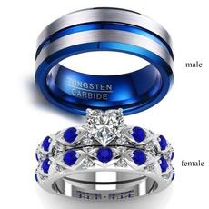 Sterling, Heart, tungstenring, DIAMOND