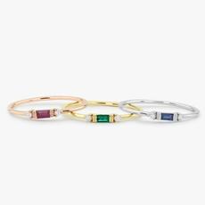Sterling, stackablering, wedding ring, gold