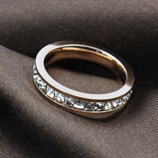Steel, DIAMOND, femalering, Jewelry
