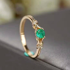 18k gold, emeraldring, gold, 18 k